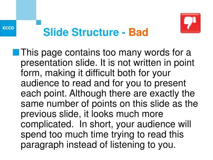 Slide Structure -