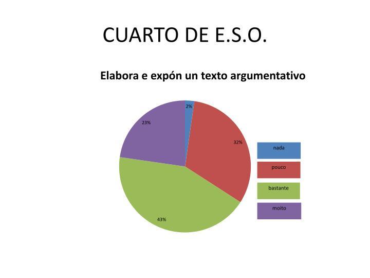 CUARTO DE E.S.O.