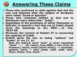 answering these claims2