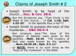 claims of joseph smith 2