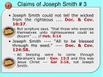 claims of joseph smith 3