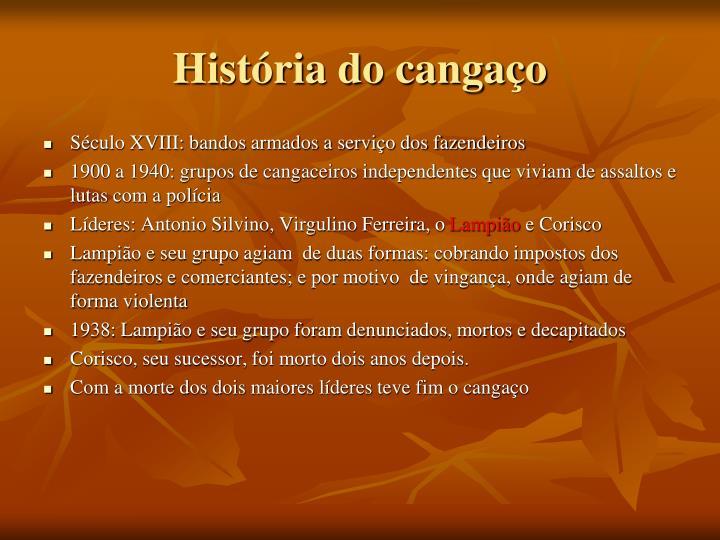 História do cangaço
