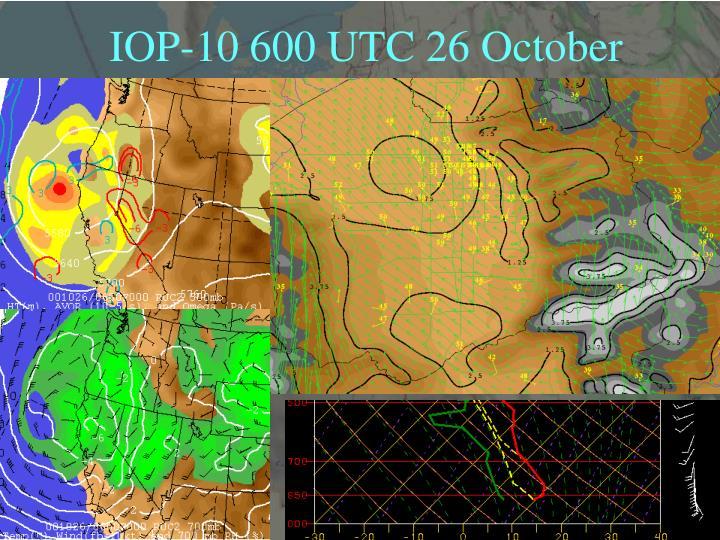IOP-10 600 UTC 26 October