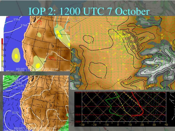 IOP 2: 1200 UTC 7 October