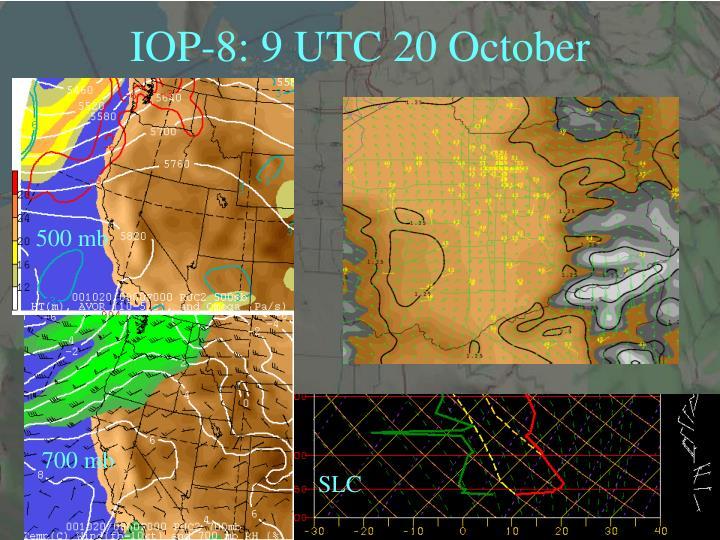 IOP-8: 9 UTC 20 October