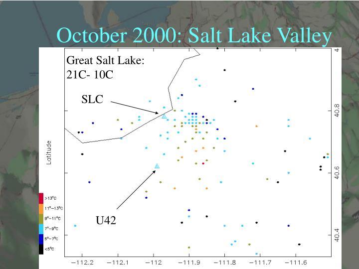 October 2000: Salt Lake Valley