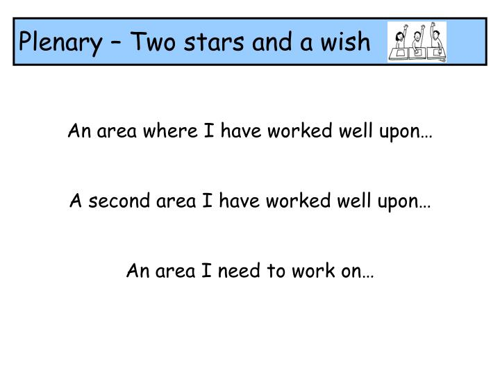 Plenary – Two stars and a wish