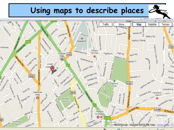 Using maps to describe places