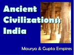 ancient civilizations india