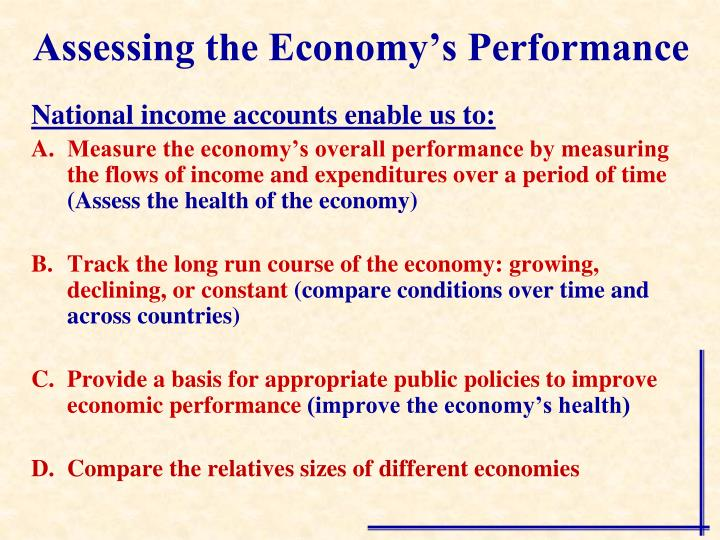 Assessing the economy s performance