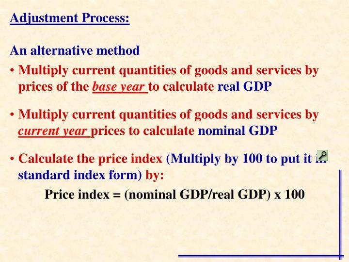 Adjustment Process: