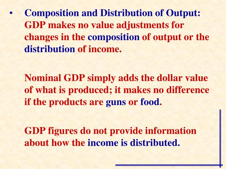 Composition and Distribution of Output: