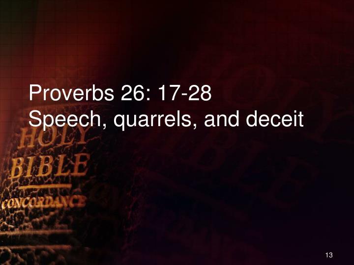 Proverbs 26: 17-28