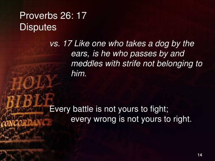 Proverbs 26: 17