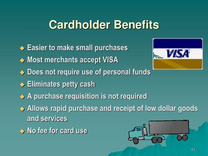 Cardholder Benefits