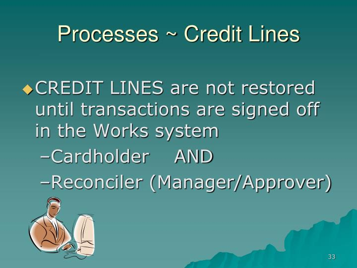 Processes ~ Credit Lines