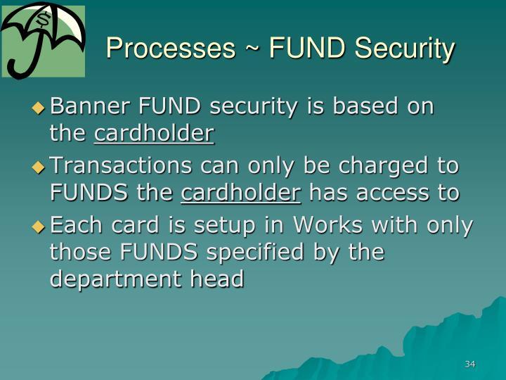 Processes ~ FUND Security