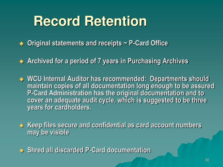 Record Retention