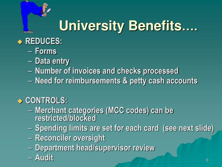 University Benefits