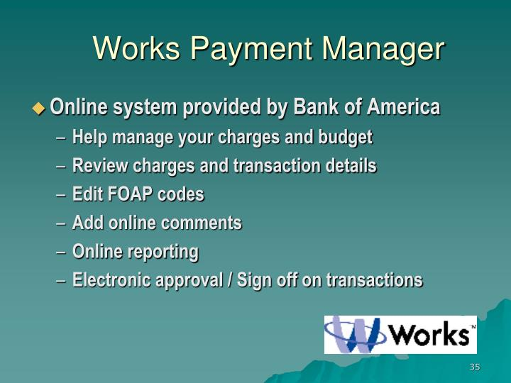 Works Payment Manager