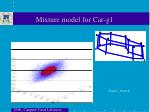 mixture model for car g1