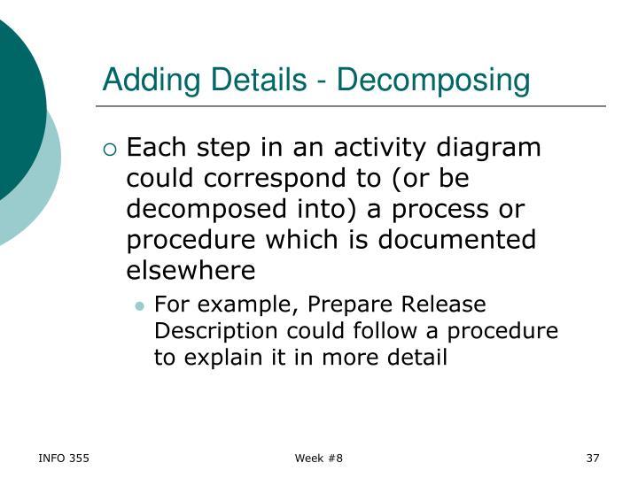 Adding Details - Decomposing