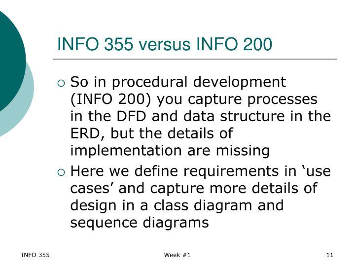 INFO 355 versus INFO 200