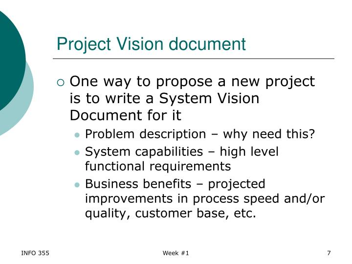 Project Vision document
