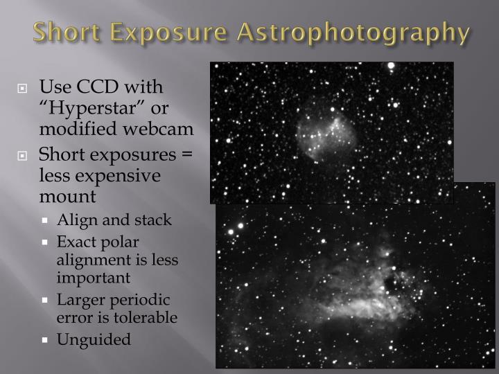 Short Exposure Astrophotography