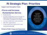 ri strategic plan priorities