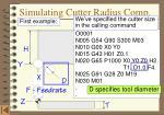 simulating cutter radius comp
