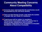 community meeting concerns about compatibility1