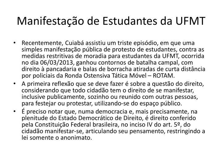 Manifestação de Estudantes da UFMT
