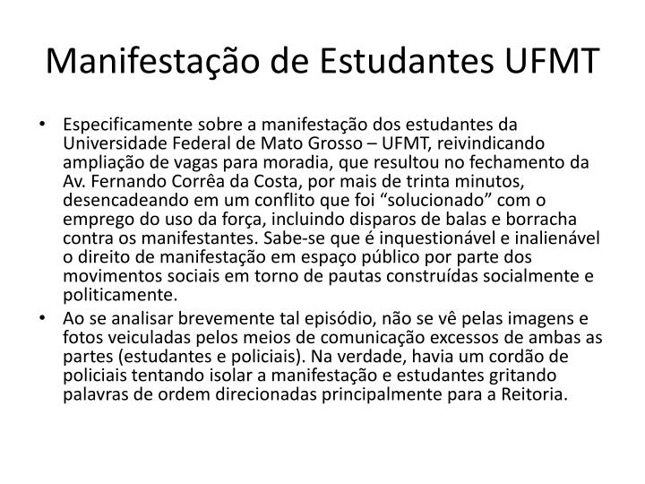 Manifestação de Estudantes UFMT