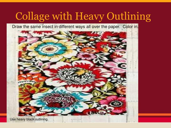Collage with Heavy Outlining