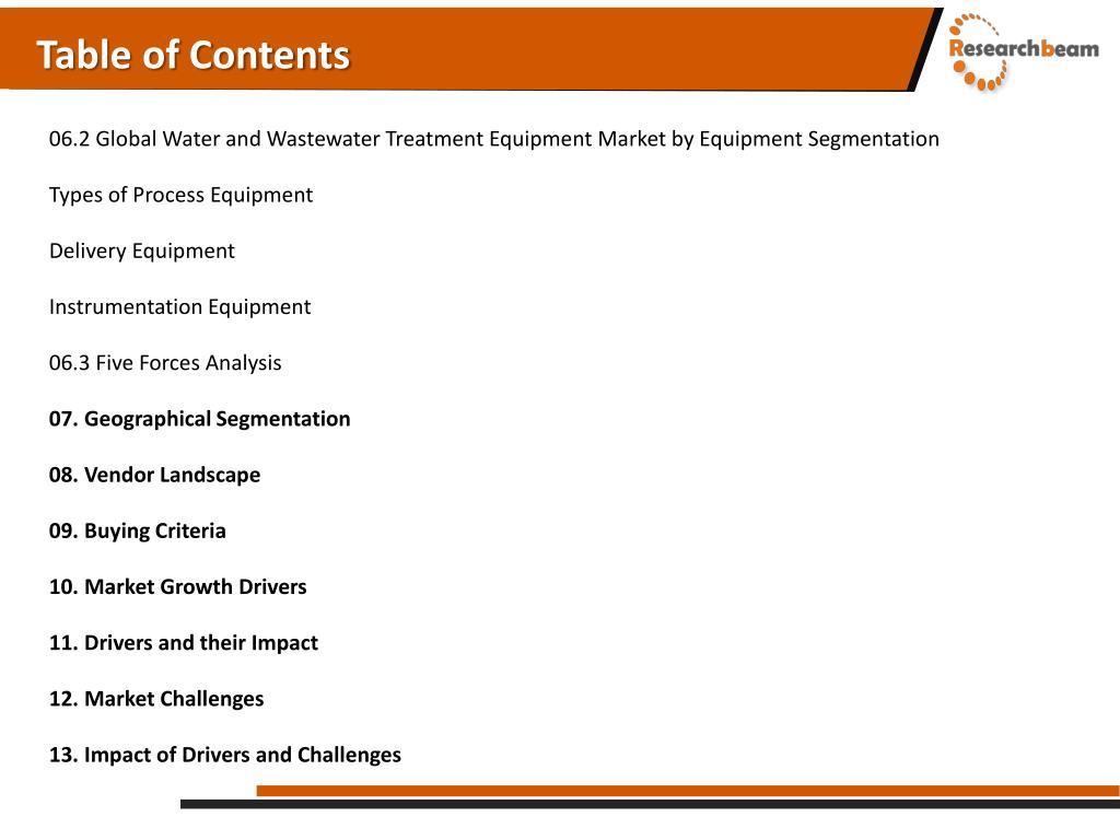 PPT - Global Water and Wastewater Treatment Equipment Market