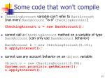 some code that won t compile