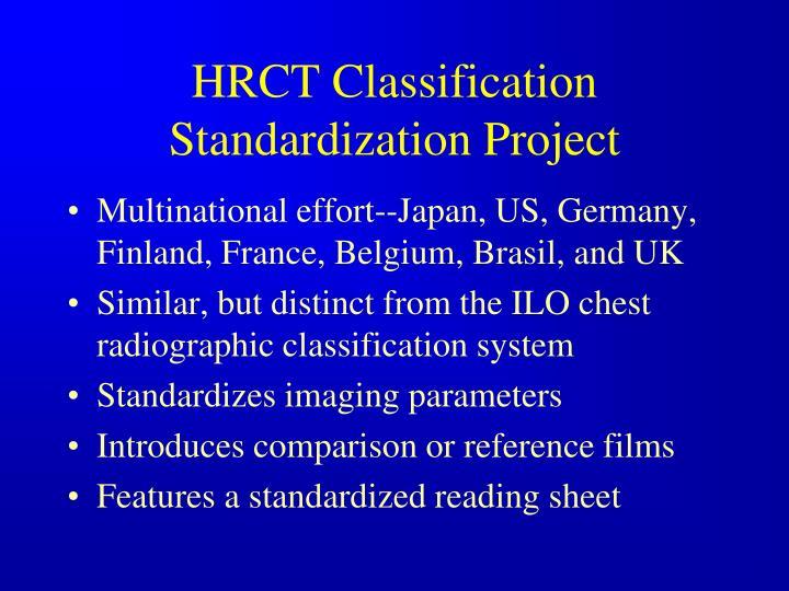 HRCT Classification Standardization Project