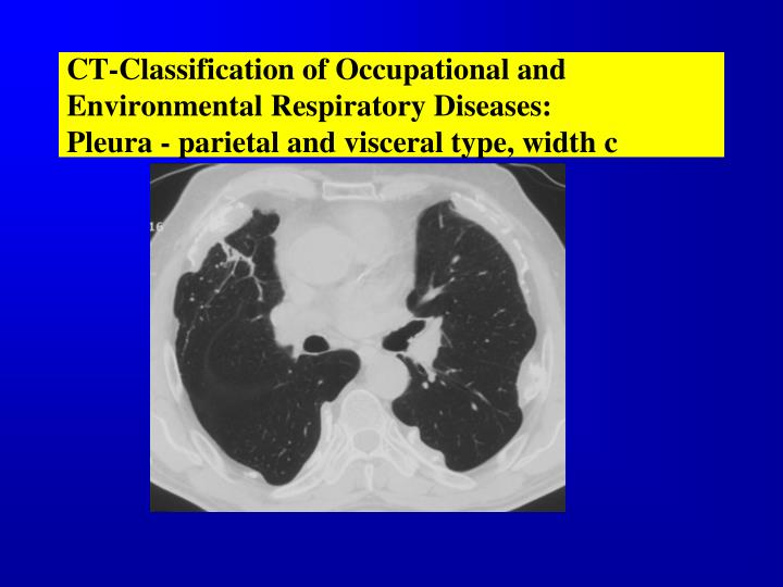 CT-Classification of Occupational and Environmental Respiratory Diseases: