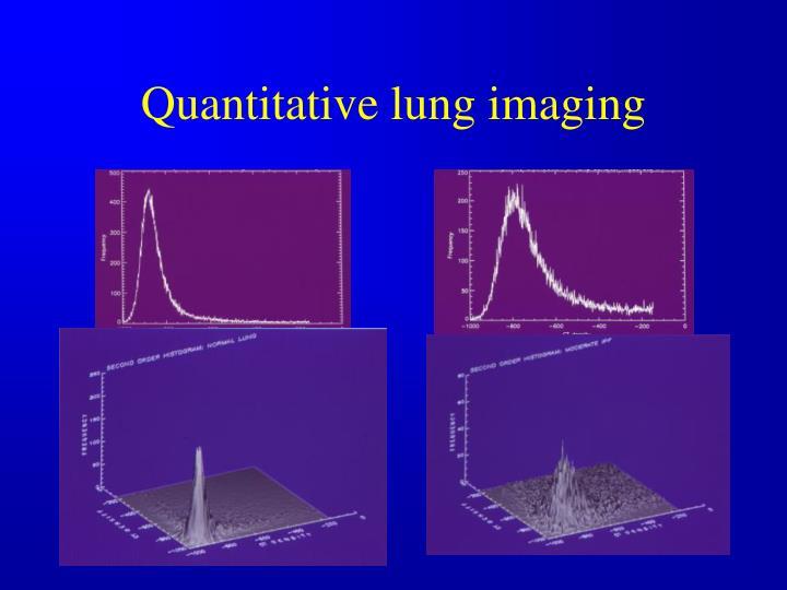 Quantitative lung imaging