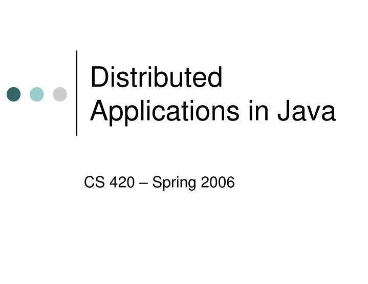 distributed applications in java n.
