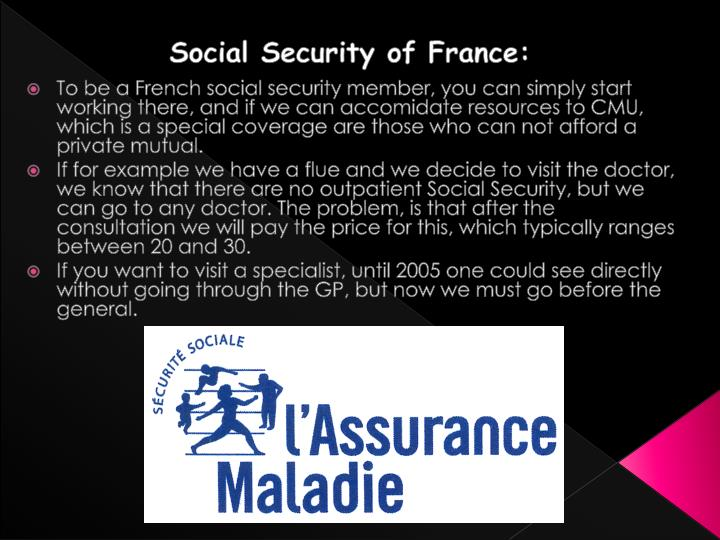 Social Security of France: