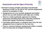 assessment and the open university