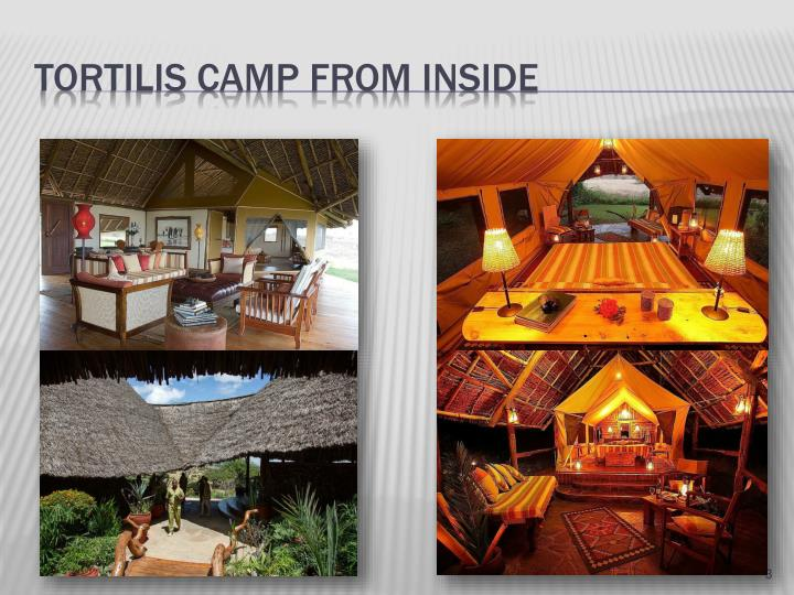 Tortilis camp from inside