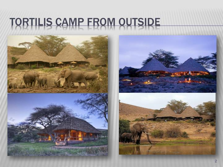 Tortilis camp from outside