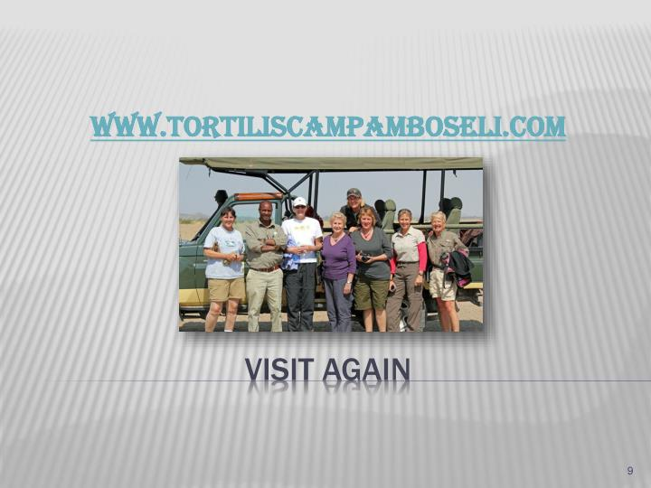 WWW.TORTILISCAMPAMBOSELI.COM