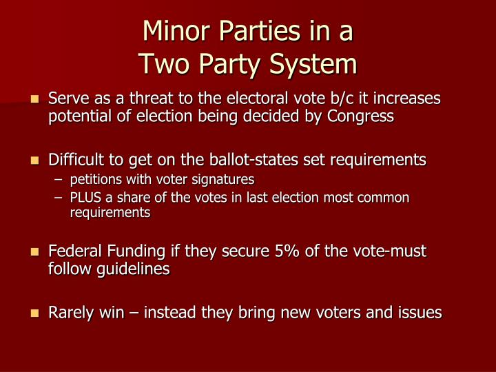 Minor Parties in a
