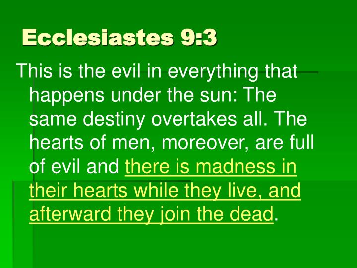 Ecclesiastes 9:3