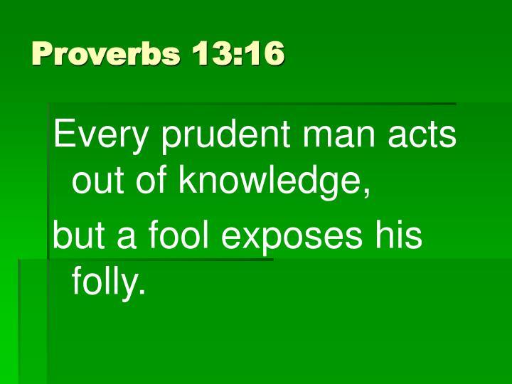 Proverbs 13:16