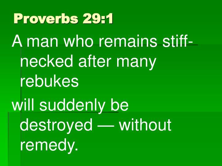 Proverbs 29:1